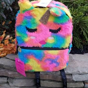 BRAND NEW Betsey Johnson Backpack (Furry Line)